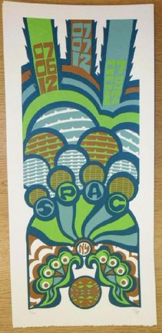Original silkscreen concert poster for Phish on July 6th, 7th and 8th at The Saratoga Performing Arts Center (SPAC) in 2012. It is printed on Watercolor Paper with Acrylic Inks and measures around 10 x 22 inches.  Print is signed and numbered 29/150 by the artist Tripp.