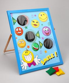 Take a look at this Smile Bean Bag Toss Game Set by U.S. Toy Company on #zulily today!