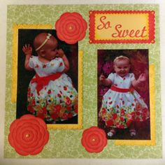 Layout using Spellbinders Blossom and Scalloped Rectangle dies