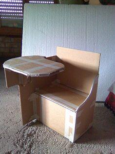 muebles de carton (2)   Hacer bricolaje es facilisimo.