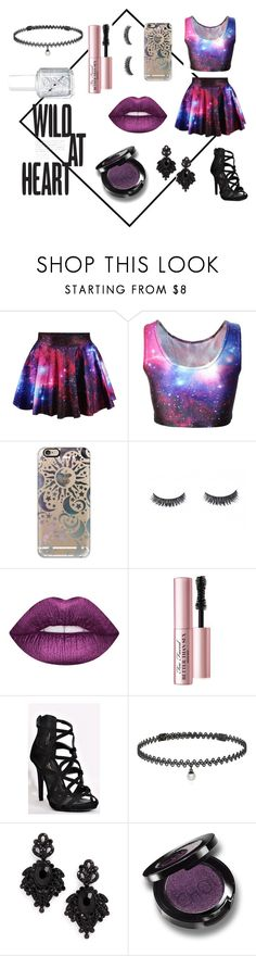 """""""Wild at Heart"""" by camryntheunicorn ❤ liked on Polyvore featuring Casetify, Too Faced Cosmetics, BERRICLE, Tasha and Essie"""