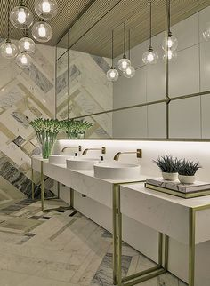 marmore + gold - banheiro - Interior Design Lover Blog