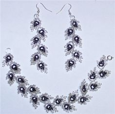 scheme to earrings and necklaces | biser.info - all about beads and beaded works - 1