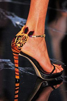 Louis Vuitton: zebra sandals