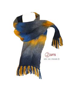 Gift for man Hand nuno felted merino wool by LGIFTSLithuania