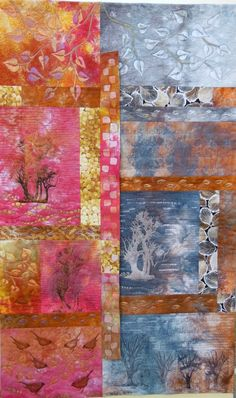 Atmosphere by Chantal Guillermet: Art Quilt