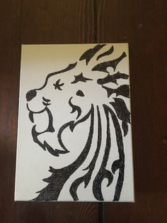 A personal favorite from my Etsy shop https://www.etsy.com/listing/463124171/lion-ink-art-canvas-wall-decor