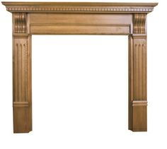 Corbel Fireplace Surround      Solid Pine     Available in Waxed or Unwaxed finish (waxed version shown)     Suitable for all our cast iron insets Online Sale Price: £250.00 r.r.p: £311 saving: £61