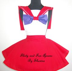 Inspired Cosplay Sailor Mars Costume Apron by FlirtyandFunAprons, $55.00