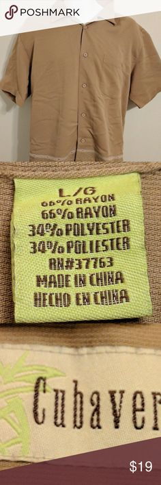 Selling this Cubavera Guayabera Large Short Sleeve Button up on Poshmark! My username is: erock102871. #shopmycloset #poshmark #fashion #shopping #style #forsale #Cubavera #Other