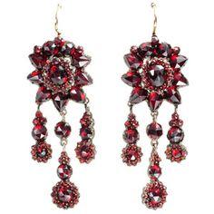 Czech garnet earrings  #JulepColorChallenge #CreateYourJulepColor
