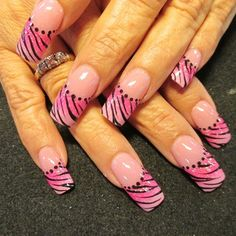 Pink zebra by Oli123 - Nail Art Gallery nailartgallery.nailsmag.com by Nails Magazine www.nailsmag.com #nailart