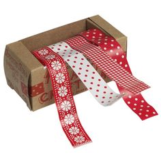 Scandinavian Red Paper Tape (Pack of 4)