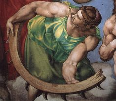 Michelangelo's Muscled Ladies
