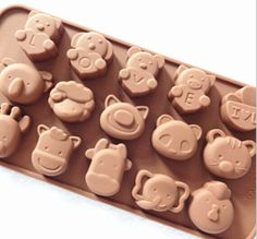 Silicone Animals Tray awesome for making chocolates, jam, candies, spread or ice!