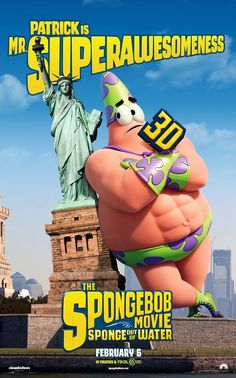 Patrick is Mr. Superawesomeness in The SpongeBob Movie: Sponge Out of Water