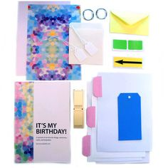 It's My Birthday Kid's birthday time capsule journal and class, Pink pastel