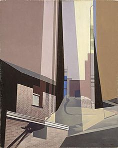 Charles Sheeler: Across Media Charles Sheeler (American, New England Irrelevancies 1953 Oil on canvas Museum of Fine Arts, Boston, Gift of William H. and Zoe Oliver Sherman Fund. Charles Sheeler, Charles Demuth, Pop Art, Post Painterly Abstraction, Hard Edge Painting, Urban Painting, Kunsthistorisches Museum, Art Moderne, Urban Landscape
