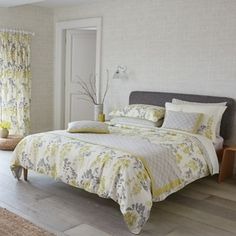 Sanderson Pale yellow 'Wisteria Blossom' bed linen- at Debenhams.com