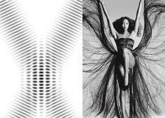 MINI MOOD BOARD: FRINGE. Wave interference with photo by Daniele + Iango #nancyherrmann #moodboard