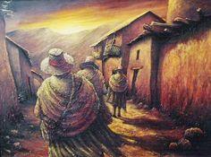 Imágenes Arte Pinturas: Cuadros Campesinos Peruanos