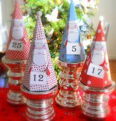 Cajitas navideñas...con plantilla