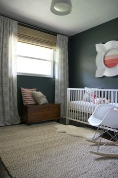 Nursery with dark walls