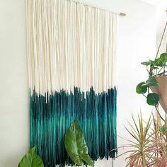 Handmade Macrame Wall Hanging Blue Tassels Tapestry Home Living Room Decoration Large Macrame Wall Hanging, Yarn Wall Hanging, Tapestry Wall Hanging, Wall Hangings, Yarn Wall Art, Textiles, Boho Decor, Living Room Decor, Creations