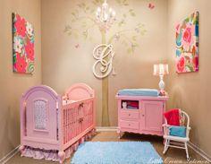 Sweetly pink girl's nursery