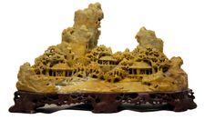 Soapstone Carving  Scholar's Mountain Temple by TheAthenaeum, $169.95