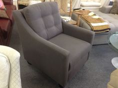 Mid Grey Easy Chair - Contemporary easy chair in a mid grey tone. A local manufacturer was overstocked so you get a deal.   Price. $425.00   - http://takeitorleaveit.co/2013/10/19/mid-grey-easy-chair/
