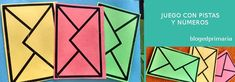 Sobres con pistas. Juego de acertijo para niños de primaria. Juegos y números. Actividades para primer grado. Worksheets, Cube, Blog, Delaware, Educational Games, Projects, Math Games, Curriculum Design, Blogging