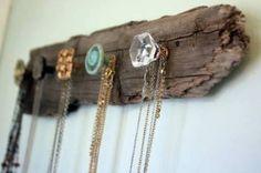 DIY Wood Bark Jewelry Holder