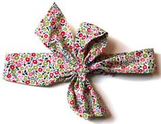 Liberty Print 'Fairford' Pink/Green Big Bow Hairband