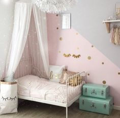 More Girls Bedroom Decor Ideas ~ Beautiful House Baby Bedroom, Nursery Room, Girls Bedroom, Bedroom Decor, Bedroom Ideas, Cool Teen Bedrooms, Little Girl Rooms, My New Room, Toddler Bed