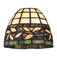 Design Classics Lighting Dome Tiffany Glass Shade - 1-5/8-inch fitter | GL1043 | Destination Lighting