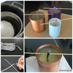 DIY Udelys og haveblus i konservesdåse med udendørsvæge. Køb materialer til lysfremstilling ved Kreahobshop.dk