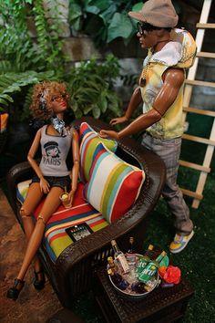 BBQ- Kenneth makes a move   Flickr - Photo Sharing! Barbie Life, Barbie And Ken, Barbie House, Barbie World, Barbie Diorama, Poppy Parker, Diva Dolls, Dolls Dolls, Vintage Barbie Dolls