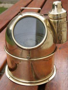 ANTIQUE BINNACLE SHIP COMPASS WITH KEROSENE LAMP Vintage Compass, Kerosene Lamp, Jukebox, Pirates, Nautical, Christian, Sea, Antiques, Jewelry