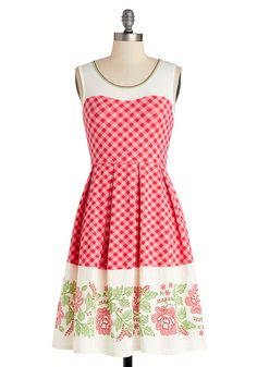 Sunny Solstice Celebration Dress. Kick-start the warm seasons with thisred-and-pink tank dress by Blutgeschwister! #red #modcloth