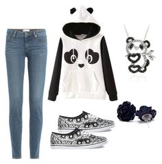 """""""panda"""" by designer36 ❤ liked on Polyvore featuring Paige Denim, Vans and DB Designs"""