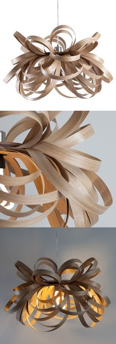 Butterfly Pendant Oak by Tom Raffield http://www.tomraffield.com/products/ceiling-lights/butterfly-pendant.php