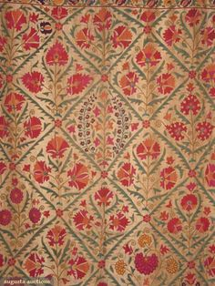Embroidered Suzani, Uzbekistan, Late 19th C, Augusta Auctions, March 2010 NYC, Lot 62