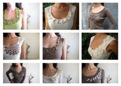 ideas for embellishing t-shirts from zelaya.wordpress.com