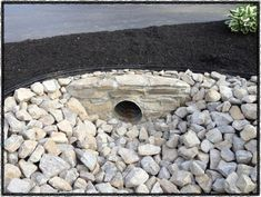 Check out this important picture and also visit today knowledge on Home Landscaping Ideas Driveway Culvert, Driveway Entrance Landscaping, Home Landscaping, Landscaping With Rocks, Driveway Ideas, Driveways, Driveway Drain, Landscaping Design, Landscape Fabric