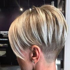 """Short Side Shaved Hair [ """"Pixie Cut 2017 Source Blonde Pixie Cut Source Cute Pixie Source Long Pixie Source Red Pixie Source Thick"""", More Really Cute Pixie Hairstyles - crazyforus"""", """"Long on top with an under shave. Pixie Hairstyles, Straight Hairstyles, Pixie Haircuts, 2018 Haircuts, Woman Hairstyles, Shaved Hairstyles, Elegant Hairstyles, Short Hair Cuts For Women, Short Hair Styles"""