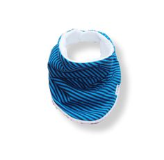 Baby Bandana Bib Scarf in Blue Stripes Jersey Knit with Snap Closure for Boy or Girl by ZigZagRags on Etsy https://www.etsy.com/listing/219964297/baby-bandana-bib-scarf-in-blue-stripes