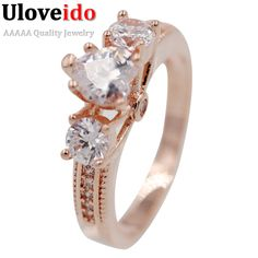 Find More Rings Information about Uloveido 2016 China Ladies Rose Gold Plated Engagement White Crystal Rings for Women CZ Diamond Luxury Jewelry Mariage Y139,High Quality ring groove,China ring plunger Suppliers, Cheap ring stud from Ulovestore Fashion Jewelry on Aliexpress.com