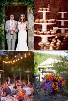 my favorite wedding color combo - deep purple and orange.