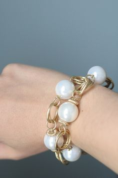Pearl strand from Ritz as a bracelet | Flickr - Photo Sharing!